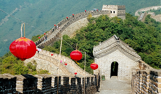 The Mutianyu section of the Great Wall of China.