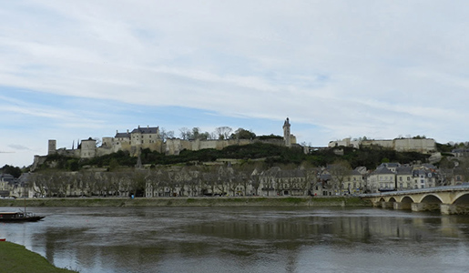 The Chateau of Chinon overlooks the Vienne River. Photo courtesy of John Sweets.