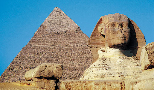 The mysterious Sphinx and the Great Pyramid