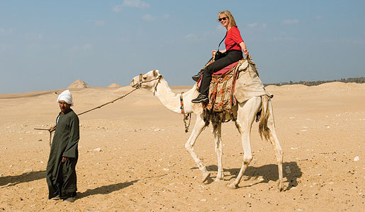 Smithsonian traveler enjoys one of many special experiences in Egypt.