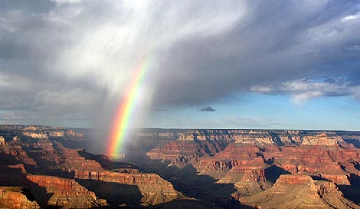 A rainbow at the Grand Canyon, Photo by Nancy Holland