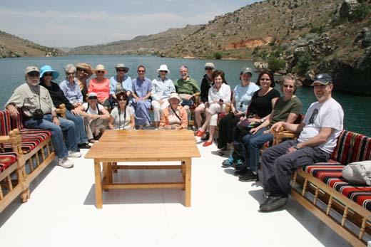 Smithsonian group on Euphrates River