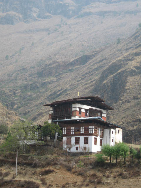 A Solitary Monastery in Bhutan