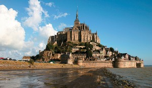 Mont -St-Michel sits dramatically off the coast of Normandy