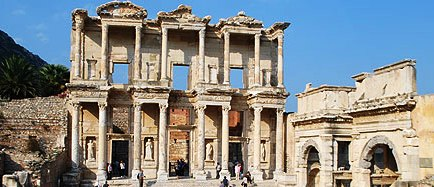 The Library of Celsus at Ephesus. Photo: Amy Kotkin.