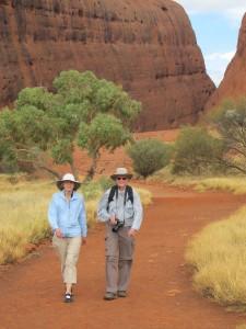 Smithsonian travelers enjoy a walk in the desert. Photo: Ed Kanze