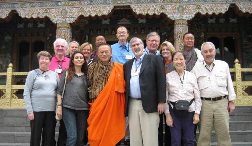 Smithsonian travelers with the Prime Minister of Bhutan.