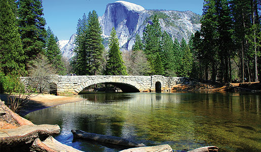 The Half Dome is one of the most recognized features of Yosemite National Park.