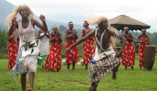 A dance performance at the Mountain Lodge