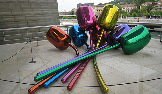 "Jeff Koons' ""Tulips"" outside the Guggenheim in Bilbao, Spain. Photo: Jessica Engler"
