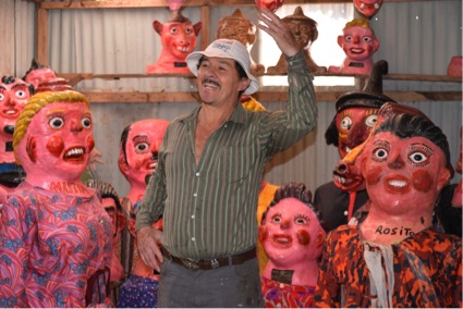 Don Gerardo Montoya Traditional Mask-maker (Photo by R. Szaro)