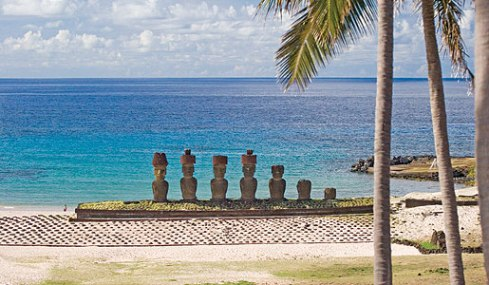 Visit the moai of Easter Island on our private jet tours.