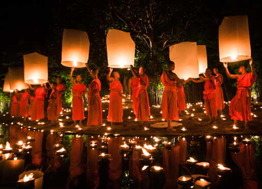 Chiang Mai, Thailand, monks