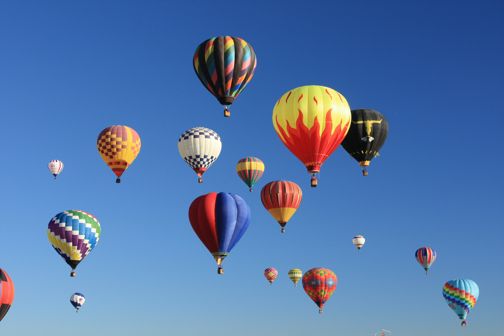 Balloons fill the sky at the Albuquerque International Balloon Fiesta. Photo: Courtesy Flickr user dherrera_96