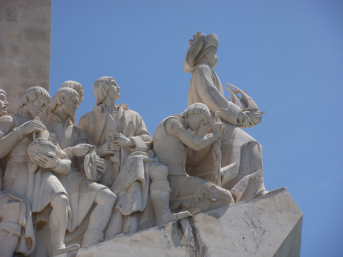 The Padrão dos Descobrimentos, the Monument to the Discoveries, was built to commemorate the Portuguese explorers of the 15th and 16th centuries. Photo: Flickr user Philip Larson