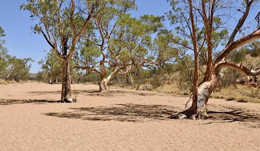 dry reiver bed, australia