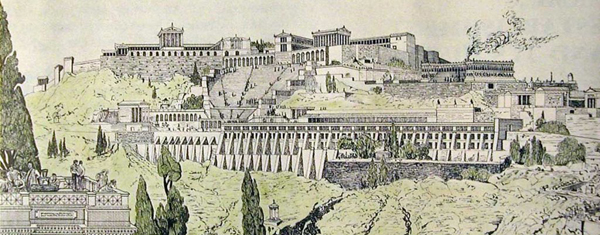 A sketch of Ancient Pergamum.