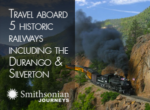 Travel aboard 5 historic railways including the durango and silverton