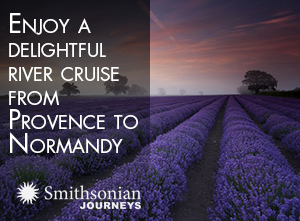 Enjoy a delightful river cruise from Provence to Normandy