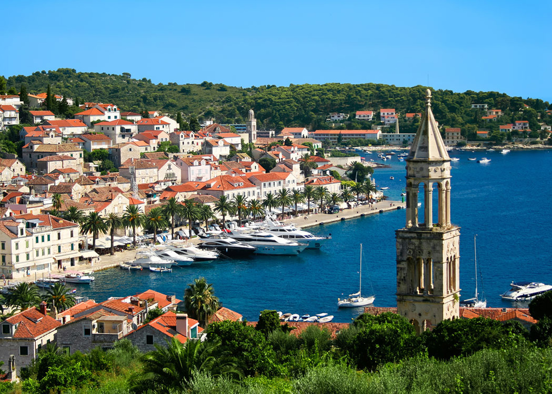 Harbor in Hvar, Croatia
