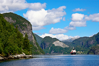 The fjords of Bergen, Norway