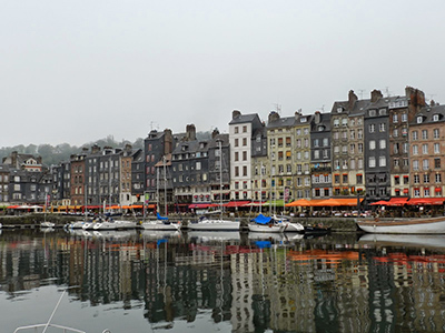 Honfleur's Old Harbor on a foggy morning