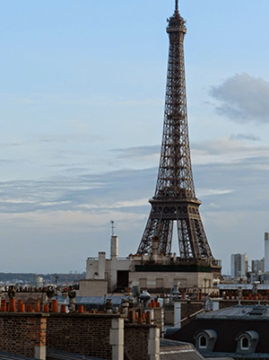 View of Eiffel Tour from hotel window