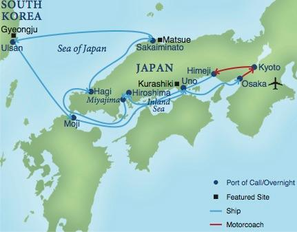 A Cruise Of Japan Smithsonian Journeys - Japan map 2017