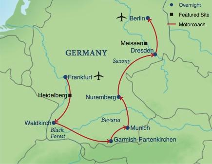 Highlights Of Germany Smithsonian Journeys - Germany map black forest
