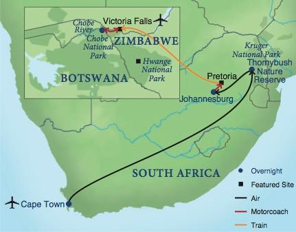 Botswana South Africa Map.Treasures Of South Africa Smithsonian Journeys