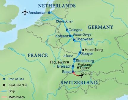 Cruising The Rhine A Family Adventure Smithsonian Journeys - Germany map rhine