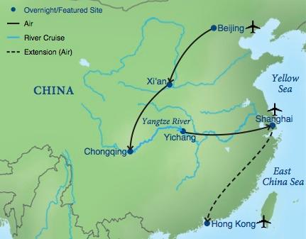 Map Of East Asia Yangtze River.Imperial China The Yangtze Smithsonian Journeys