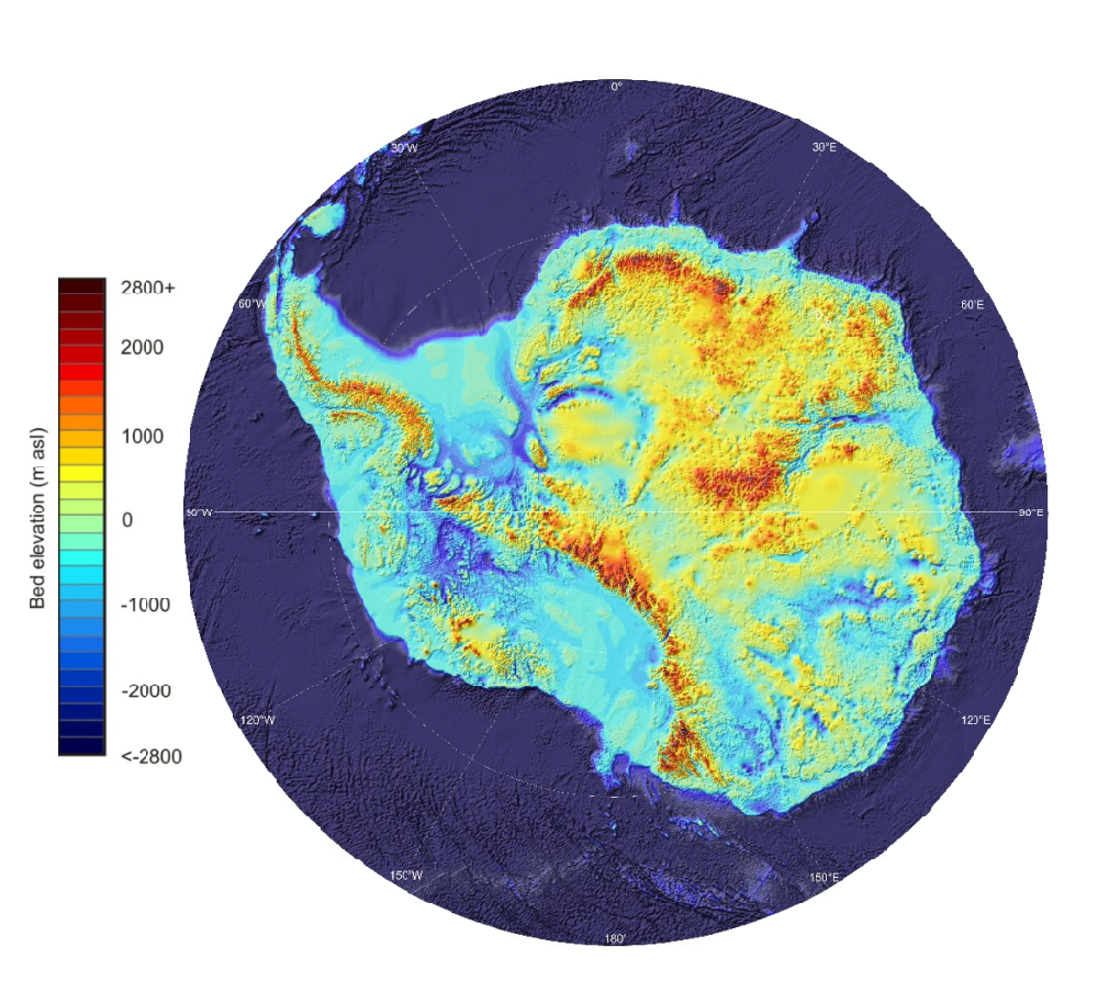 a map of Antarctica