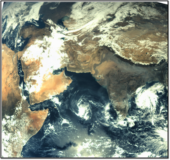 Mangalyaan returned this image of India while it was still in Earth orbit. (Photo: ISRO)
