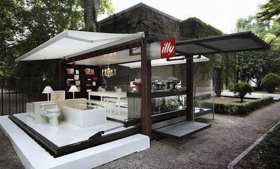 modified shipping container cafes