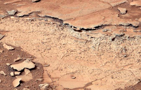The Sheepbed mudstone as seen by Curiosity. Low salinity, tolerable acidity and other traits would have made this ancient lake hospitable to life.