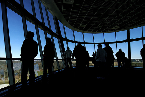 The observation tower at the Smithsonian's Udvar-Hazy Center
