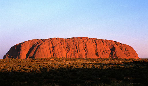 The mysterious Ayers Rock in the heart of the Outback