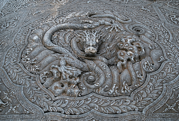 Dragon symbol at the Imperial Palace in Beijing
