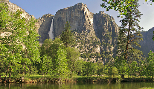 Yosemite Falls over Merced River. Photo: Anton Foltin
