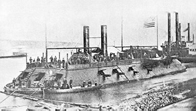 Civil War era image of USS Cairo