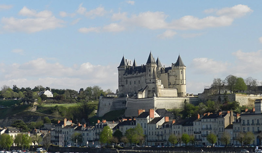 The Chateau of Saumur overlooks the Loire River. Photo courtesy of John Sweets.