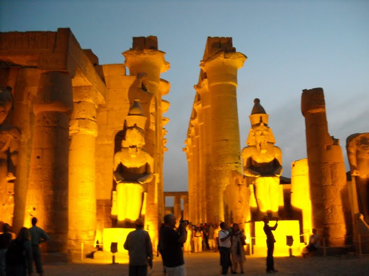Egypt's Luxor Temple on a spring evening. Photo: Leah Ibraheem