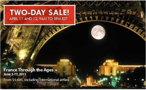 Our Two-Day sale is April 11-12. Call 1-866-338-8687 today!
