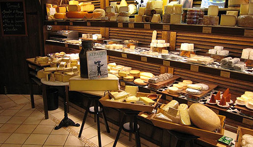 A Parisian Fromagerie, or cheese shop.