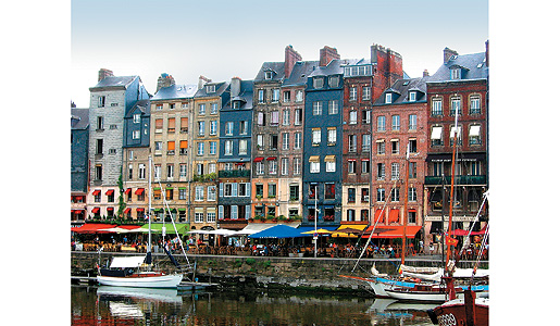 The lively port of Honfleur.