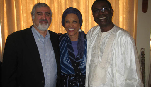 Dr. Kurin with Cole and Youssou N'Dour