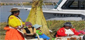 The Uru people live on lake Titicaca