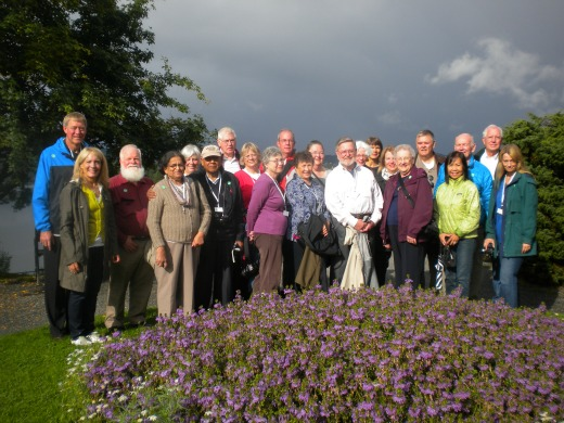 A Smithsonian group at Trollhaugen, the summer home of Norwegian composer Edvard Grieg