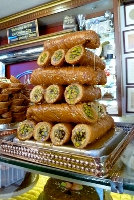 Roadside Turkish pastries. Photo: Janet Maxwell